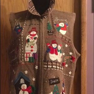 Fun holiday vest. Embellished and unique